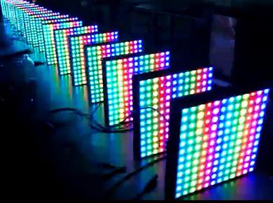 100W 彩色DMX512投光灯工厂测试