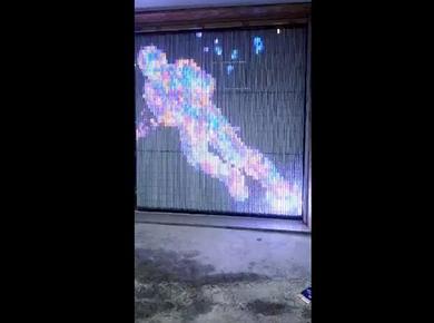 彩色线条灯灯做屏效果